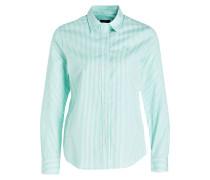 Bluse - mint/ weiss gestreift