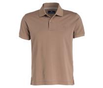Piqué-Poloshirt - hellbraun