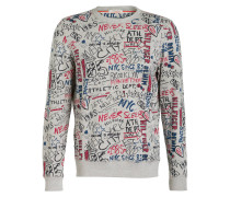Sweatshirt - grau/ pink/ blau