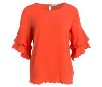 Blusenshirt mit Seidenanteil - orange