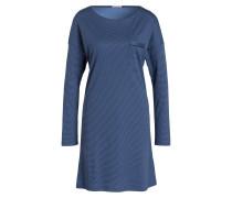 Nachthemd - blau/ dunkelblau gestreift