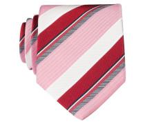 Krawatte - rot/ weiss/ rosa