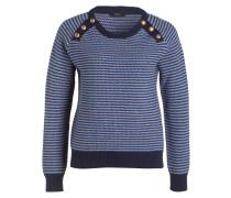 Pullover - navy/ beige