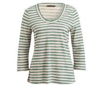Shirt mit 3/4-Arm - mint/ creme gestreift