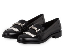 Lack-Loafer - schwarz