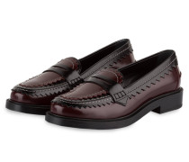 Penny-Loafer - bordeaux/ schwarz