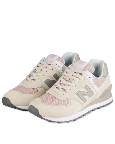 Sneaker WL574 - CREME/ ROSA
