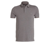 Piqué-Poloshirt Shaped-Fit - grau meliert