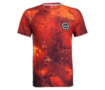 T-Shirt BUBBLES - dunkelrot/ orange