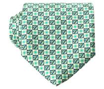 Krawatte - grün/ blau