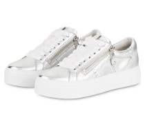 Plateau-Sneaker BIG - silber metallic