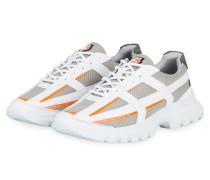 Sneaker - WEISS/ GRAU/ ORANGE