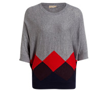 Pullover ANGELETTA - grau/ rot/ blau