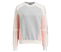 Sweatshirt - grau/ ecru/ rose