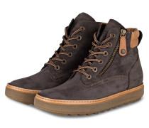 Hightop-Sneaker - grau/ hellbraun