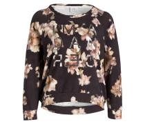 Sweatshirt - schwarz/ sand