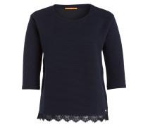 Pullover TRIPY mit Spitzensaum - blau
