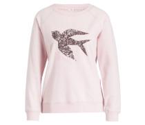 Sweatshirt mit Paillettenbesatz - rosa