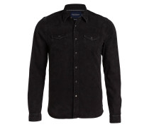 Jeanshemd Regular-Fit - schwarz