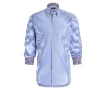 Hemd Slim-Fit - blau/ weiss