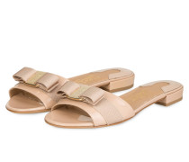 Lack-Sandalen GIL - beige