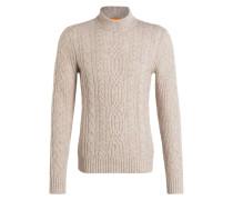 Pullover KABIOL mit Zopfmuster - beige