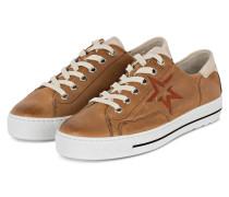 Plateau-Sneaker - CAMEL/ WEISS