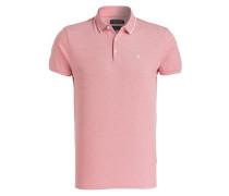Piqué-Poloshirt - rosa