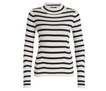 Pullover - creme/ blau gestreift