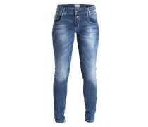 Skinny-Jeans - middle blue denim