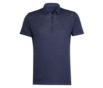 Jersey-Poloshirt Slim Fit aus Leinen