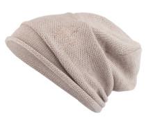Mütze mit Schmucksteinbesatz - beige