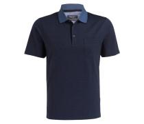 Piqué-Poloshirt - navy/ türkis