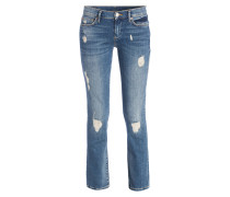 Destroyed-Jeans CORA - blue denim