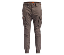 Cuffed-Cargohose ROOKIE Slim-Fit - grün