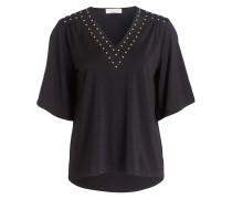Shirt mit Nietenbesatz - black