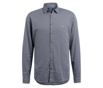 Hemd CHRIS Modern-Fit - blau/ grau/ beige