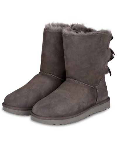 UGG Damen Fell-Boots BAILEY BOW II - GREY Günstig Kaufen Shop Billig Sehr Billig In9a4z