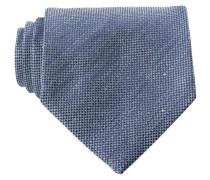 Krawatte mit Leinenanteil - hellblau/ blau