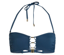 Bandeau-Bikini-Top - blau