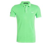 Piqué-Poloshirt - neongrün