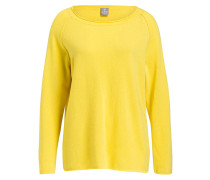 Cashmere-Pullover - gelb