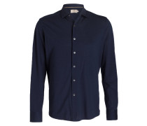 Piqué-Hemd Regular-Fit - navy