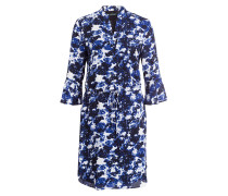 Kleid - schwarz/ blau/ hellgrau