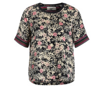 Bluse - navy/ beige/ rosa