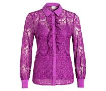 Spitzenbluse - violett