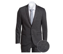 Anzug Slim-Fit - grau meliert