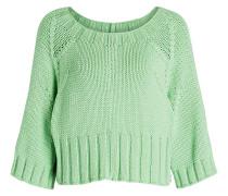 Cropped-Pullover - grün