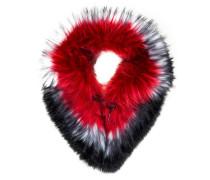 Schal in Felloptik - 260 rot schwarz