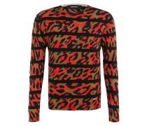 Pullover - rot/ schwarz